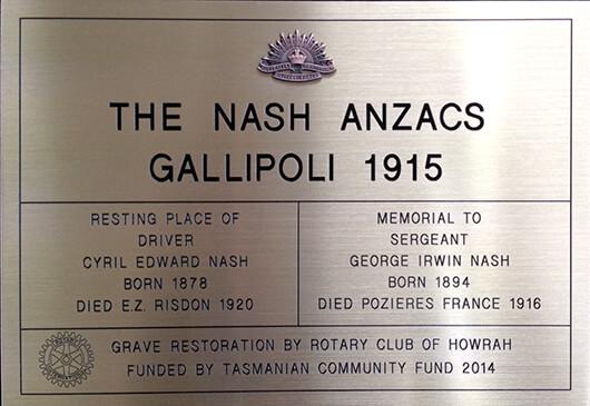 Tasman Key Service engrave plaques