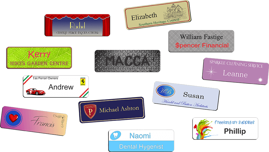 Tasman Key Service engrave name badges