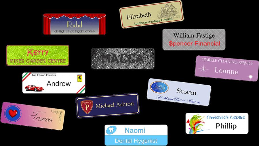 Tasman Key Service engrave name badges